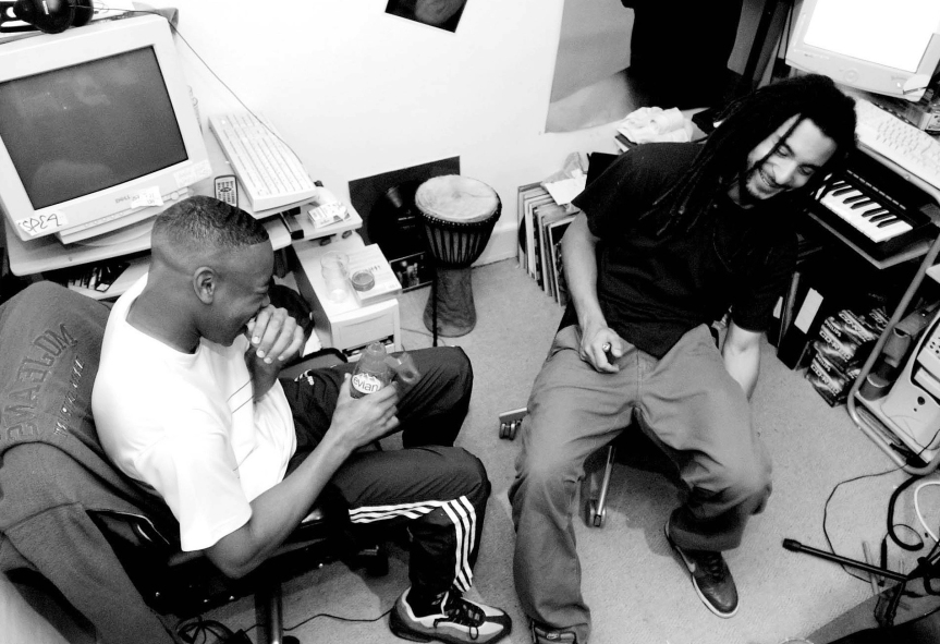 Coki and Mala (Digital Mystikz) Studio 2004